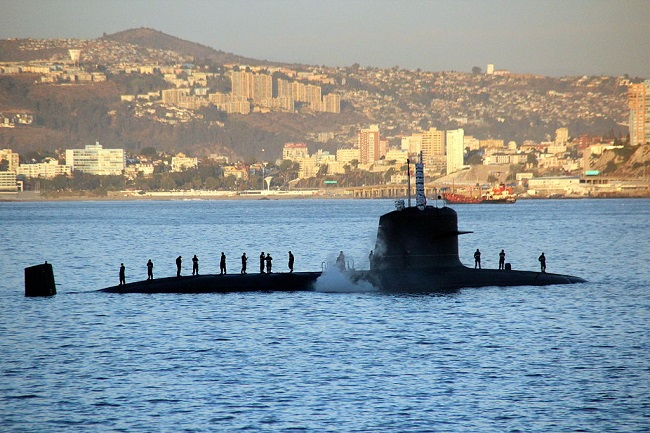 A French-designed Scorpène-class submarine. Photo: Florian Wöhrl [CC BY-SA 3.0 (https://creativecommons.org/licenses/by-sa/3.0)], via Wikimedia Commons