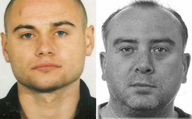 Bogumił Kaczmarczyk (L) and Rafał Czerwoniec (R) are wanted by the police. Photo: eumostwanted.eu