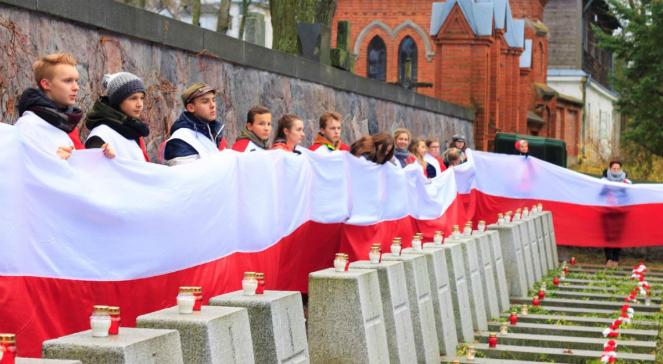 Uroczystości na cmentarzu na Rossie w Wilnie