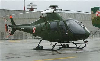 Polish workers protest loss of helicopter tender