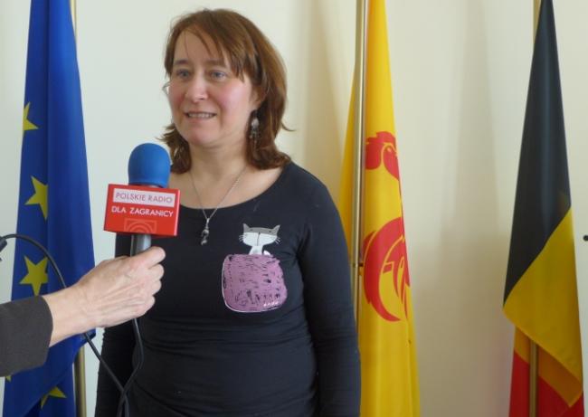 Agnieszka Pac z Przedstawicielstwa Walonia - Bruksela w Warszawie