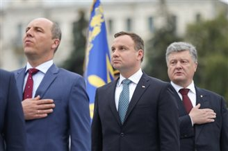 Duda attends Kiev commemorations