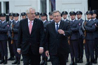 Czech president arrives in Warsaw on state visit