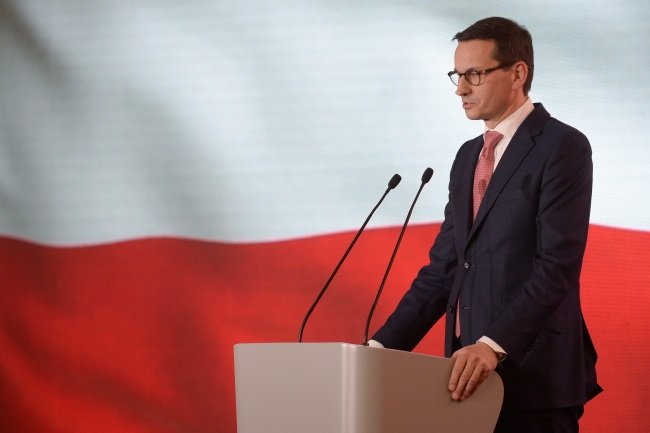 Polish Prime Minister Mateusz Morawiecki. Photo: PAP/Marcin Obara