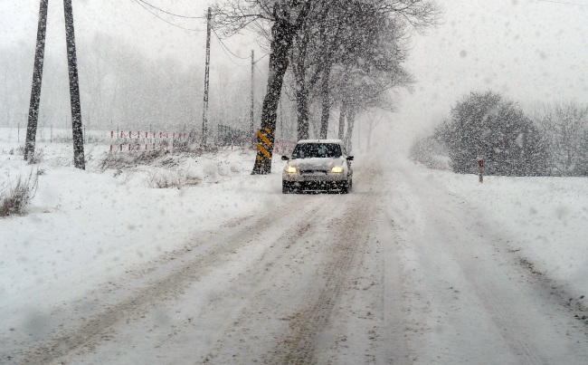 Wintry conditions in north-western Poland. Photo: PAP/Marcin Bielecki