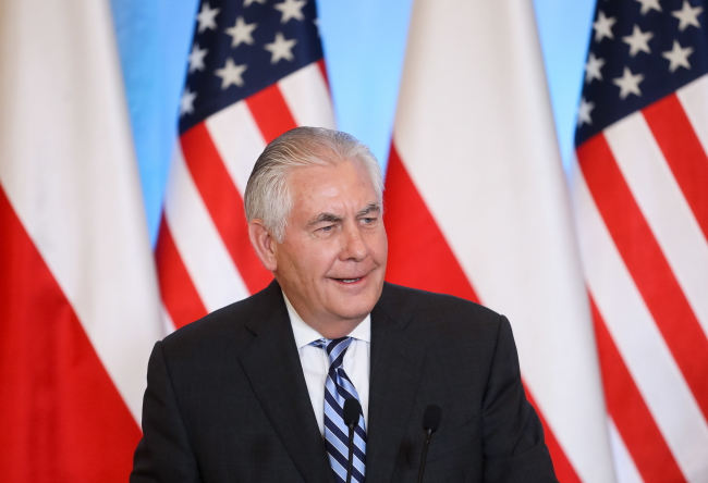US's Tillerson says Nord Stream 2 pipeline would undermine Europe's energy security