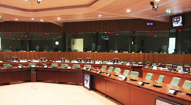 Sala posiedzeń Rady Europejskiej