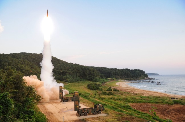 South Korean military conducts a ballistic missile drill on Monday in response to North Korea's sixth nuclear test a day earlier. Handout photo made available by South Korean Defense Ministry. PAP/EPA