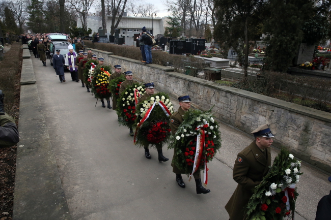 The funeral of Maria Stypułkowska-Chojecka at Warsaw's Powązki Military Cemetery. Photo: PAP/Tomasz Gzell