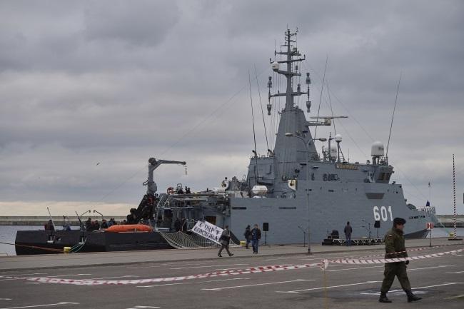 The ORP Kormoran moored in the port of Gdynia. Photo: PAP/Adam Warżawa