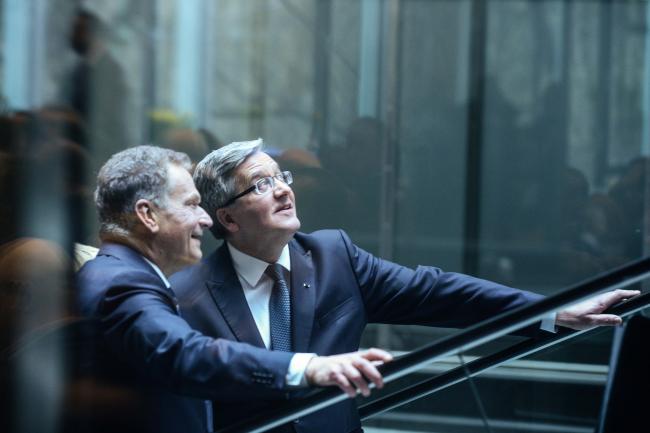Polish President Bronisław Komorowski met his Finnish countrepart Sauli Niinisto. Photo: PAP/Jakub Kamiński