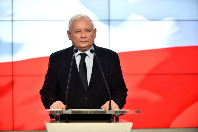 Jarosław Kaczyński, leader of Poland's ruling conservative Law and Justice (PiS) party and twin brother of the late President Lech Kaczyński, who died in the April 10, 2010 plane crash in Russia, along with 95 others. Photo: PAP/Bartłomiej Zborowski
