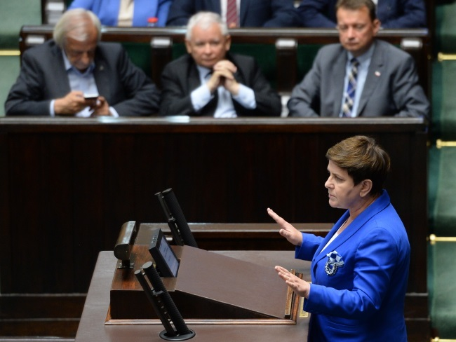 PM Beata Szydło in parliament. Photo: PAP/Jacek Turczyk