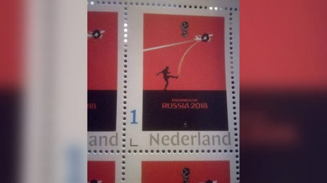 Марка, заказанная клиентом нидерландской почты PostNL.