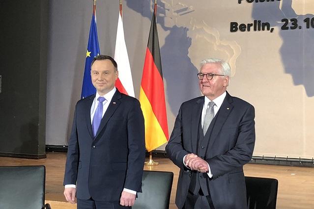 Staatspräsident Andrzej Duda und Bundespräsident Frank-Walter Steinmeier während des 16. Deutsch-Polnischen Forums in Berlin, fot. © Arkadiusz Łuba