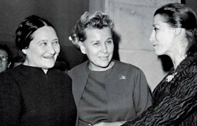 Надя Леже с Майей Плисецкой и Екатериной Фурцевой. 1968 г.