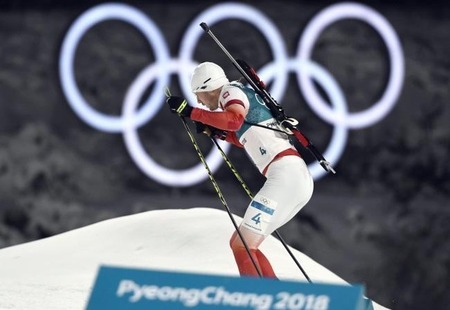 Czech Michal Krčmář wins silver in Olympic biathlon sprint