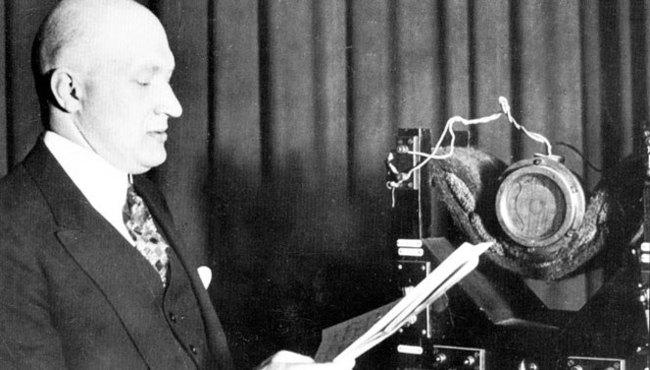 Roman Rudniewski (1893-1965), director of the Polish Radiotechnical Society, 1925. Photo: Polish Radio