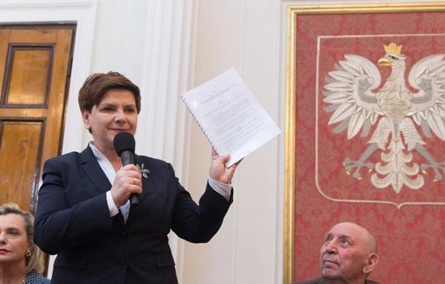 PM Beata Szydło. Photo: KPRM