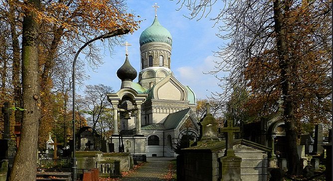 Церковь св. Иоанна Климака на Православном кладбище в Варшаве