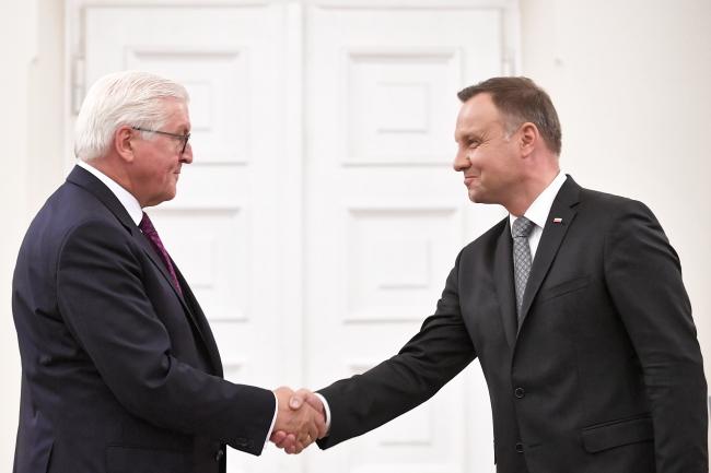 Frank-Walter Steinmeier meets Andrzej Duda. Photo: PAP/Marcin Obara