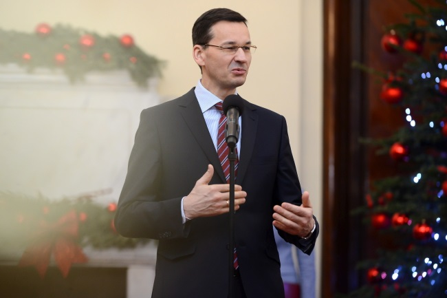 Poland's PM Mateusz Morawiecki. Photo: PAP/Jakub Kamiński