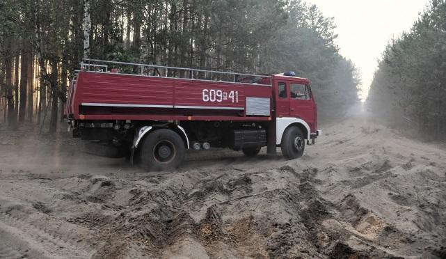 Лесной пожар в окрестностях Мисляковице (Мазовецкое воеводство)