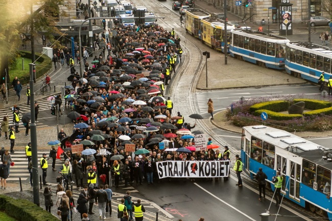 Protest in Wrocław, south-west Poland. Photo: PAP/Maciej Kulczyński