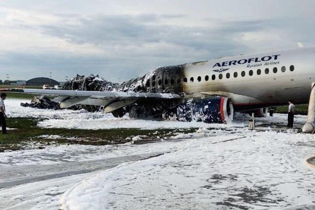 Потерпевший крушение 5 мая 2019 г. самолет Superjet