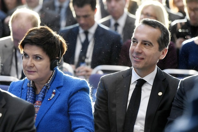 Polish PM Beata Szydło (left) attends the one-day EU Social Summit for Fair Jobs and Growth in Gothenburg, Sweden, on Friday. Photo: EPA/Szilard Koszticsak