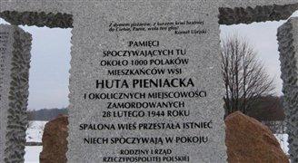 Lokalna społeczność odnowiła pomnik w Hucie Pieniackiej