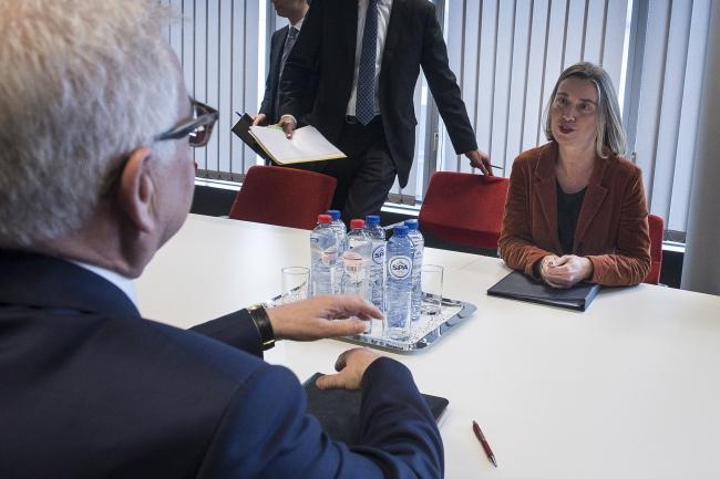 Jacek Czaputowicz meets EU foreign policy chief Federica Mogherini. Photo: PAP/Wiktor Dąbkowski