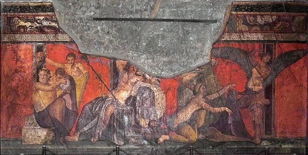 Фреска із зображенням обряду ініціації з Вілли містерій в Помпеях