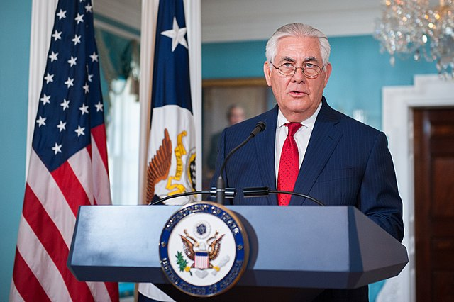 Rex Tillerson Visits New US Embassy in London that Trump Criticized
