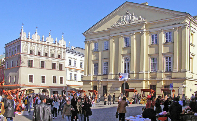 The Market Square in Lublin, eastern Poland. Photo: wikimedia commons/alians.pl