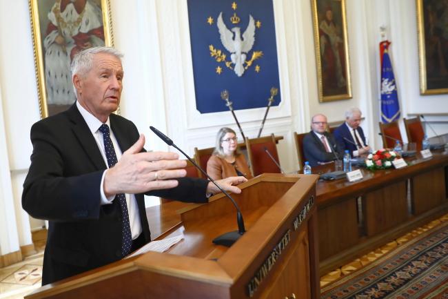 Генеральний секретар Ради Європи Турб'єрн Яґланд, Варшавський університет, 22 березня 2019 року