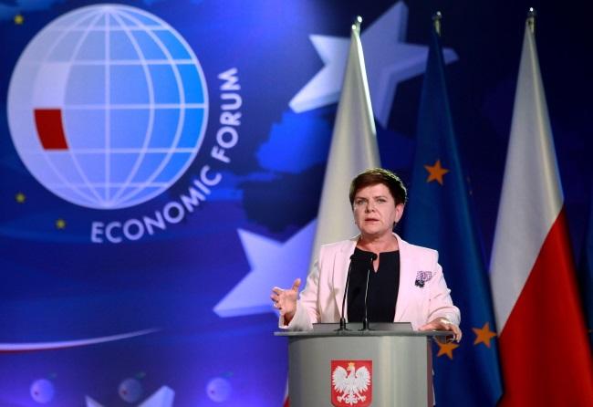 PM Beata Szydło at the Krynica Economic Forum. Photo: PAP/Grzegorz Momot