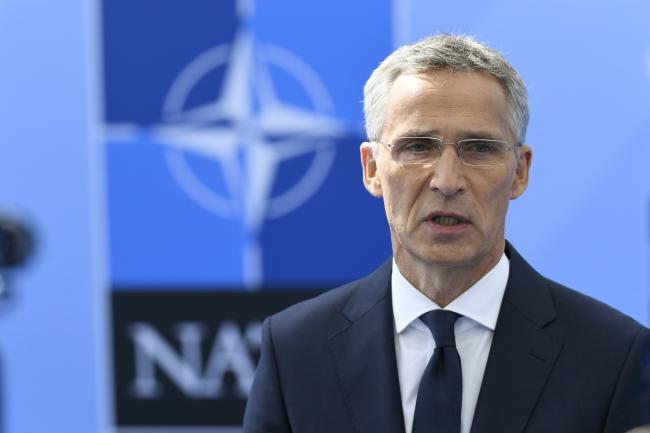 Генэральны сакратар NATO Енс Столтэнбэрг. PAP/EPA/CHRISTIAN BRUNA