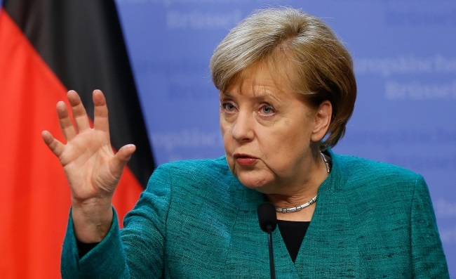 German Chancellor Angela Merkel in Brussels. Photo: EPA/JULIEN WARNAND