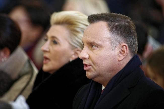 Polish President Andrzej Duda (R) and First Lady Agata Kornhauser-Duda (L). Photo: PAP/Łukasz Gągulski