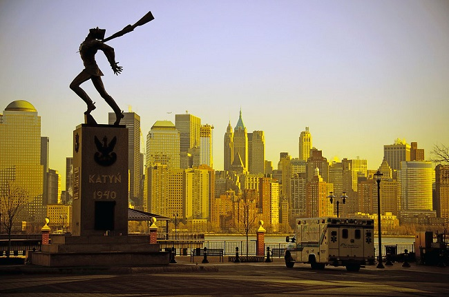 The Katyn Massacre monument in Jersey City.