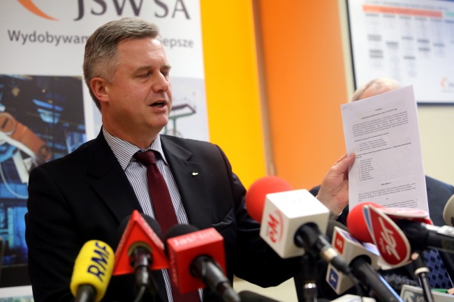 JSW president Zagórowski has offered to step down if miners come to work on Monday. Photo: PAP/Marek Zimny