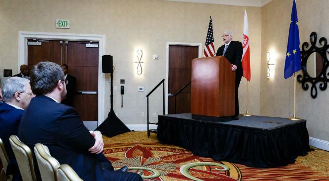 Witold Waszczykowski przemawia podczas oficjalnego otwarcia Konsulatu Generalnego w Houston