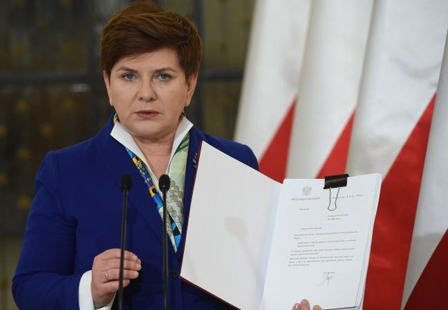 PM Beata Szydło. Photo: PAP/Radek Pietruszka