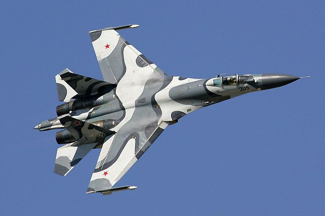 A Russian Su-27SKM jet, similar to the one that was involved in Thursday's incident. Photo: wikimedia commons/D. Pichugin
