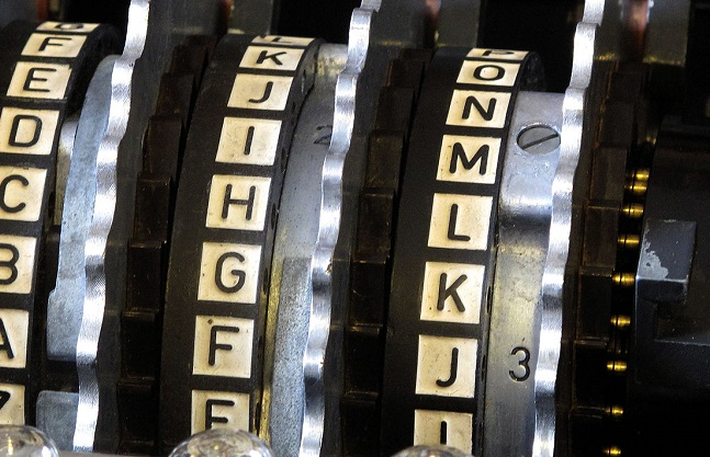 Rotors from the Enigma machine. Photo: Wikimedia Commons