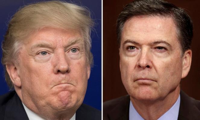 Президент США Дональд Трамп та екс-директор ФБР Джеймс Комі