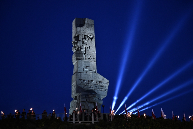 World War II commemorations held on Westerplatte in the coastal city of Gdańsk. Photo: PAP/Marcin Gadomski