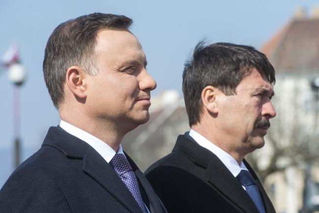 Президент Польши Анджей Дуда и президент Венгрии Янош Адер