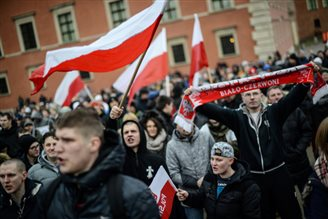 Polish marchers protest against immigrants